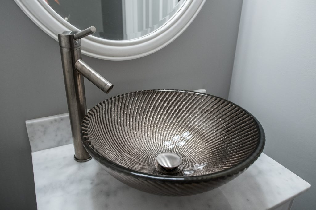 Swirled Glass Sink