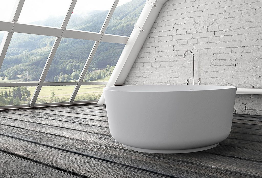 Solid Surface Round Tub