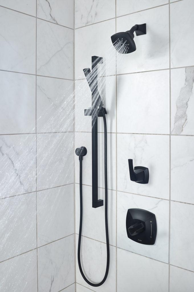 Satin Black Shower