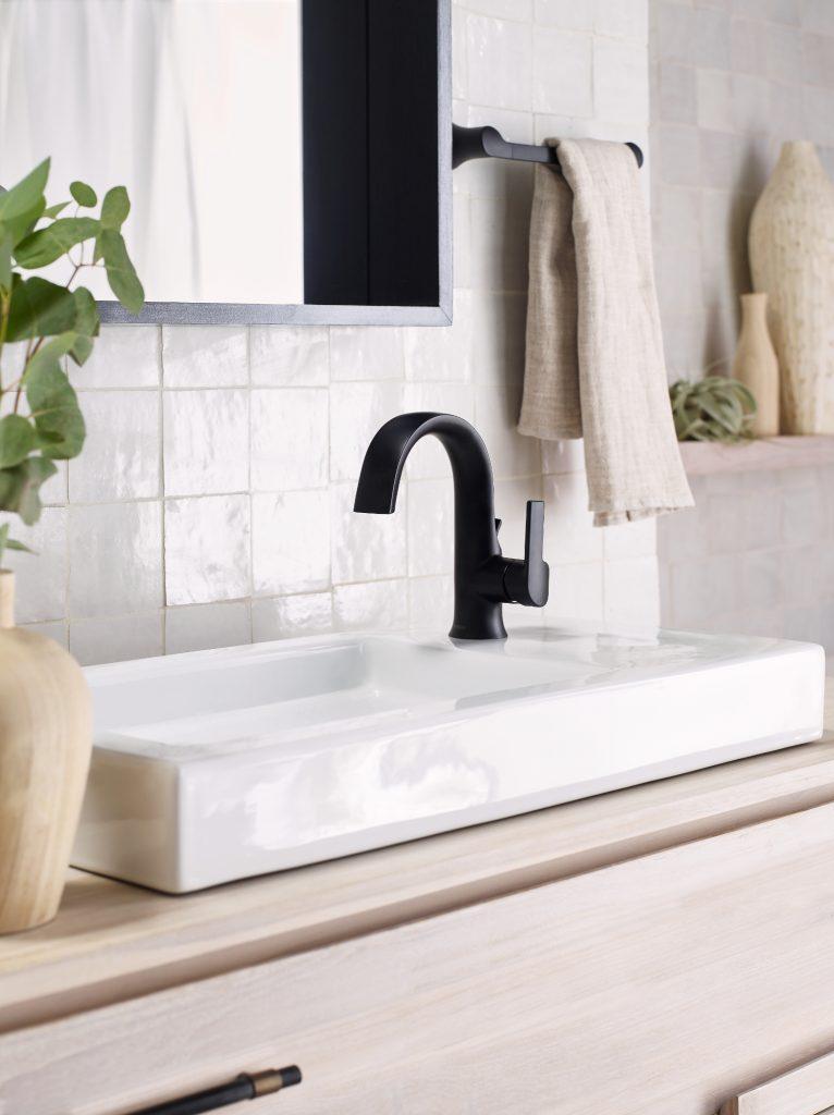 Matte Black Bath Faucet