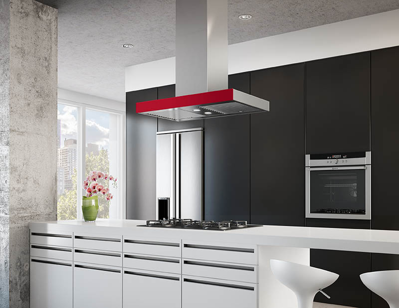 Range Hoods with Color Panels