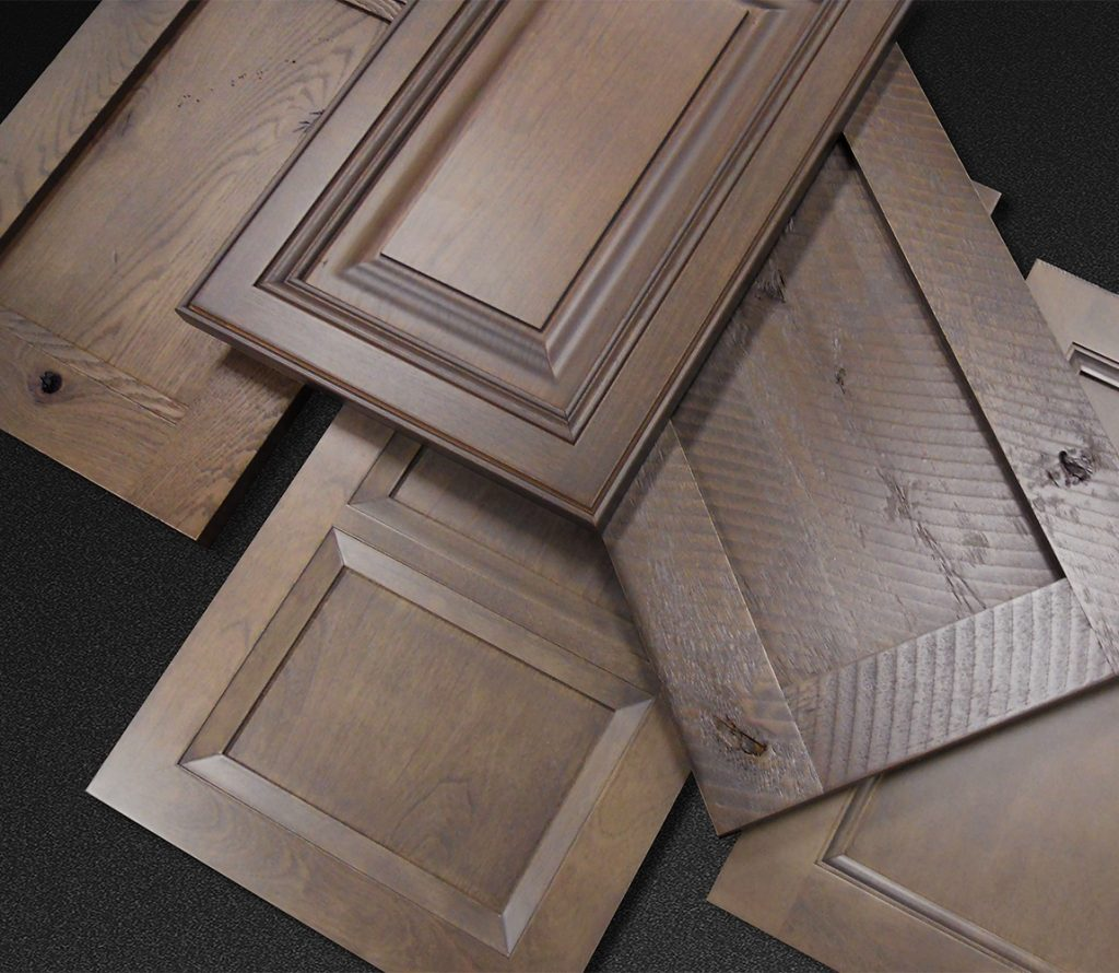 Gray stain finish option for cabinet components
