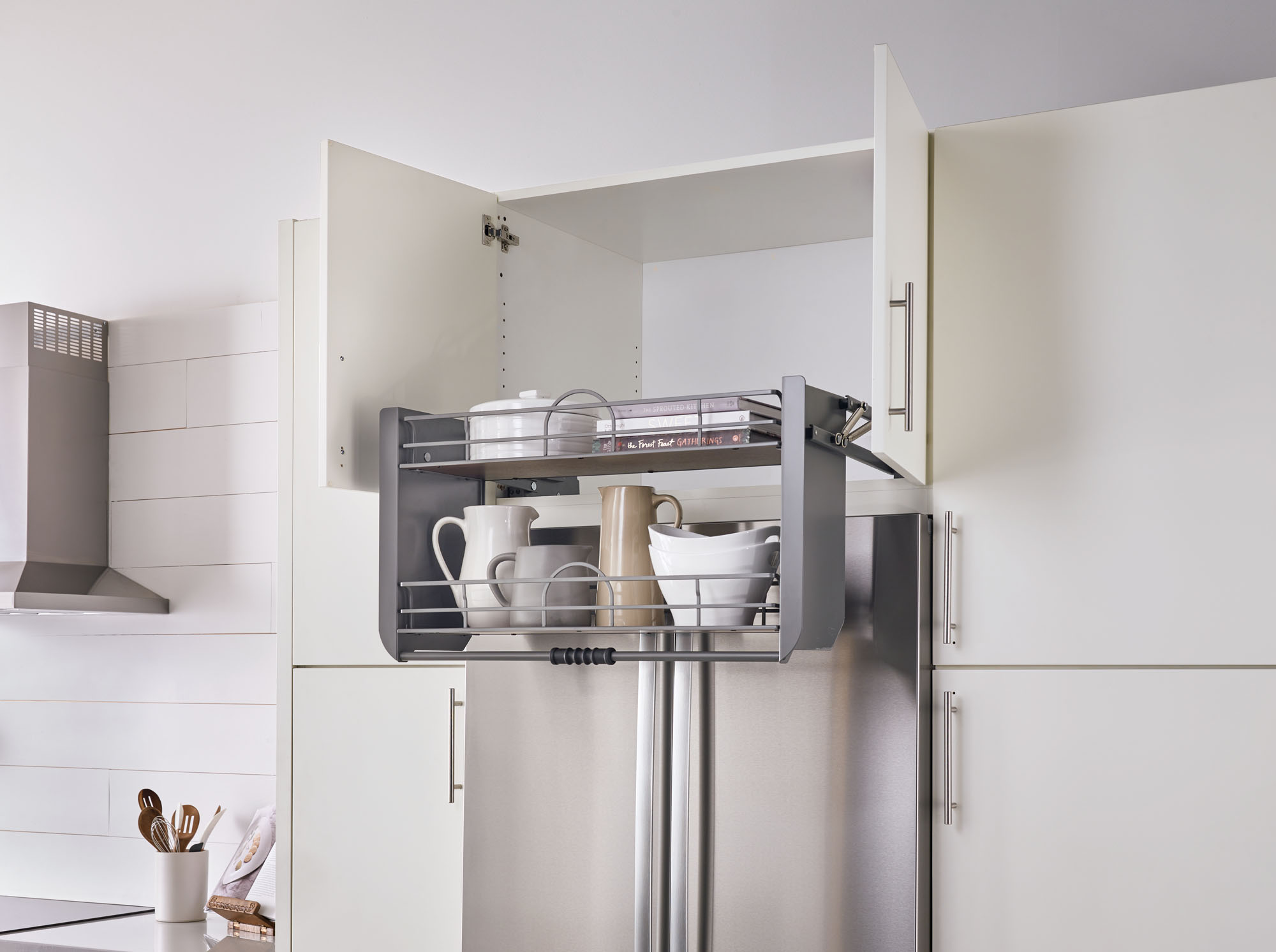 Pull Down Shelving System In Two Sizes Remodeling Industry News Qualified Remodeler