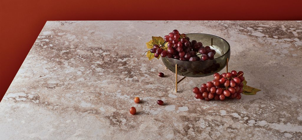 Quartz surfacing inspired by industrial designs