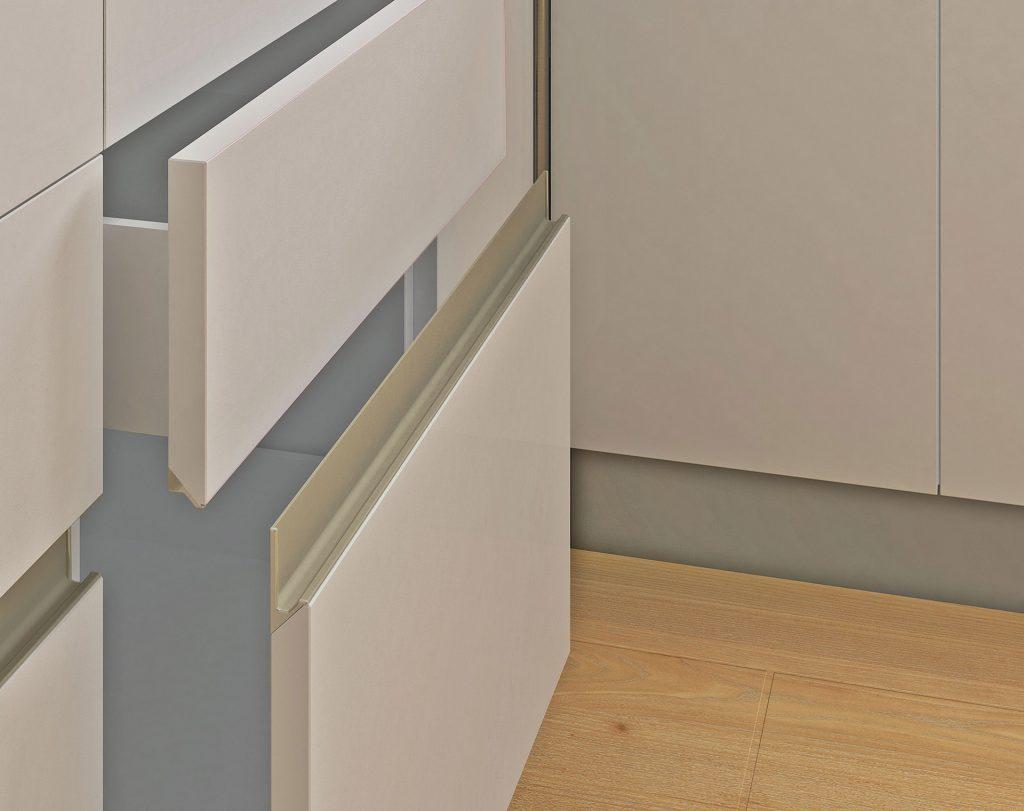Integrated Cabinet Door Handles