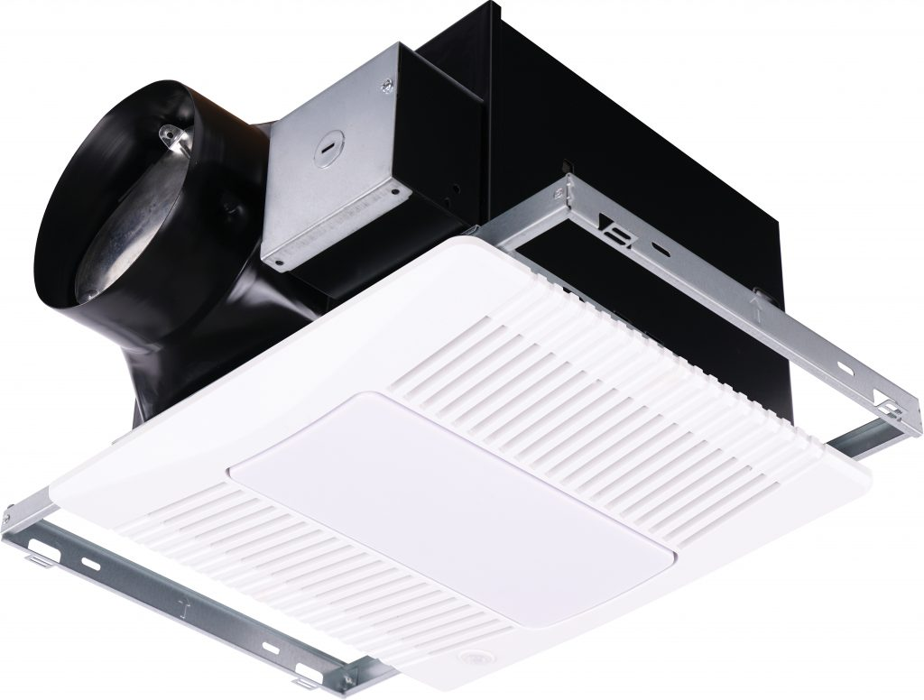 Bathroom fans operate automatically