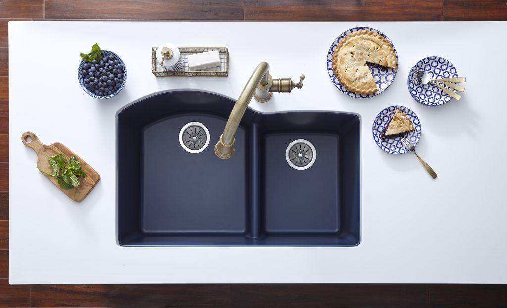 Deep Blue Quartz Sink