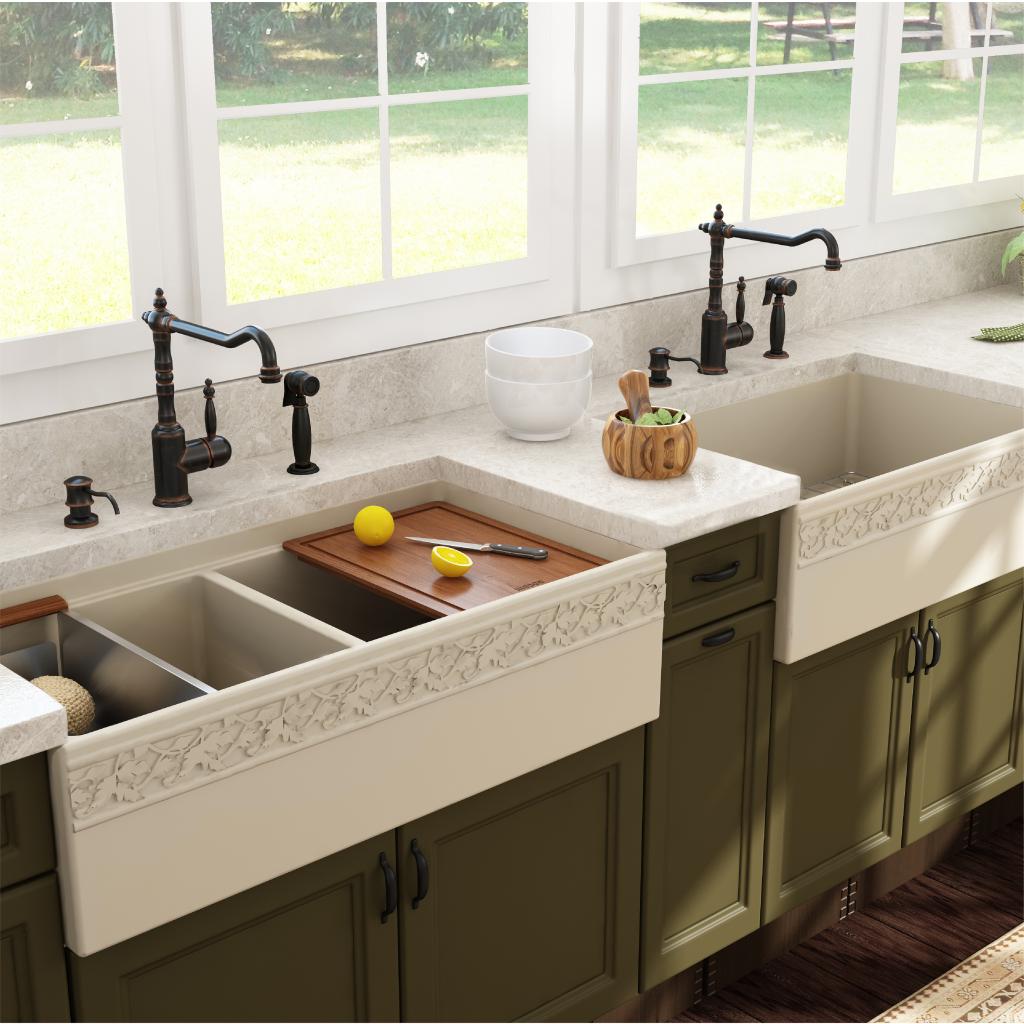 Vigneto Fireclay Kitchen Sink