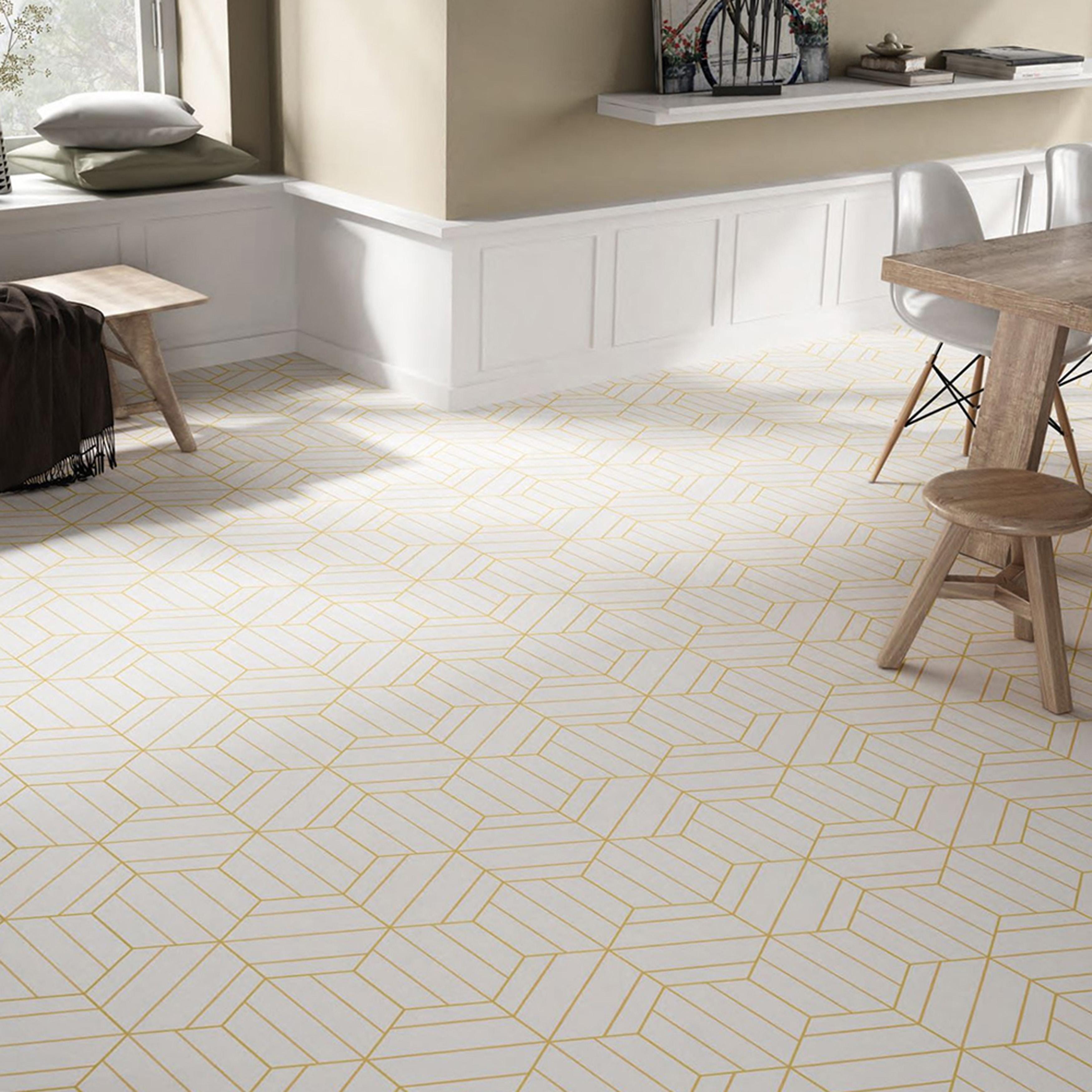 Porcelain Tile S Geometric Pattern Livens Floors Walls Remodeling Industry News Qualified Remodeler