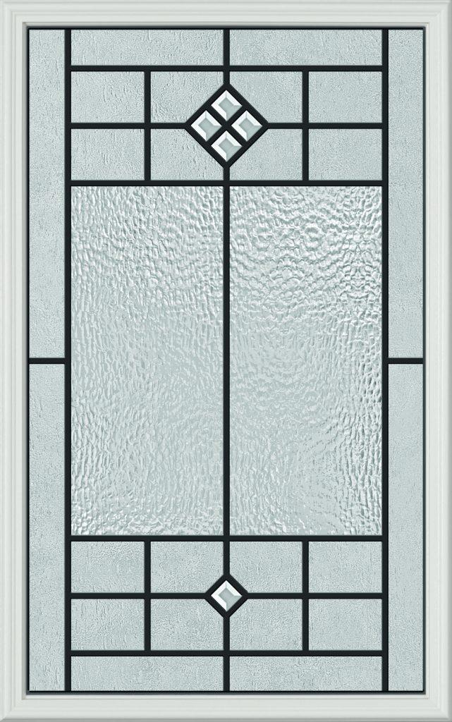 Decorative doorglass provides doorlite, sidelight options