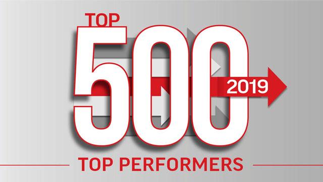 2019 Top 500: Top Performers