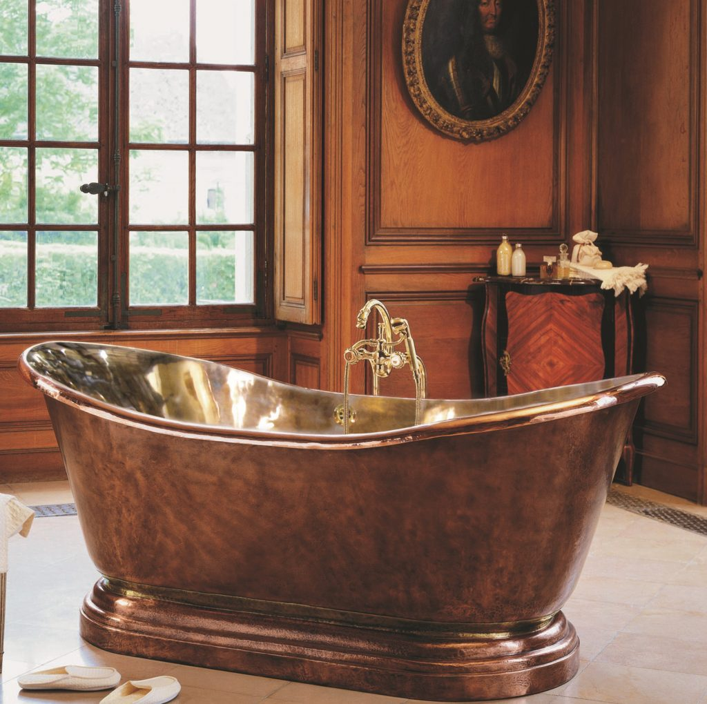 Weathered Copper Tub