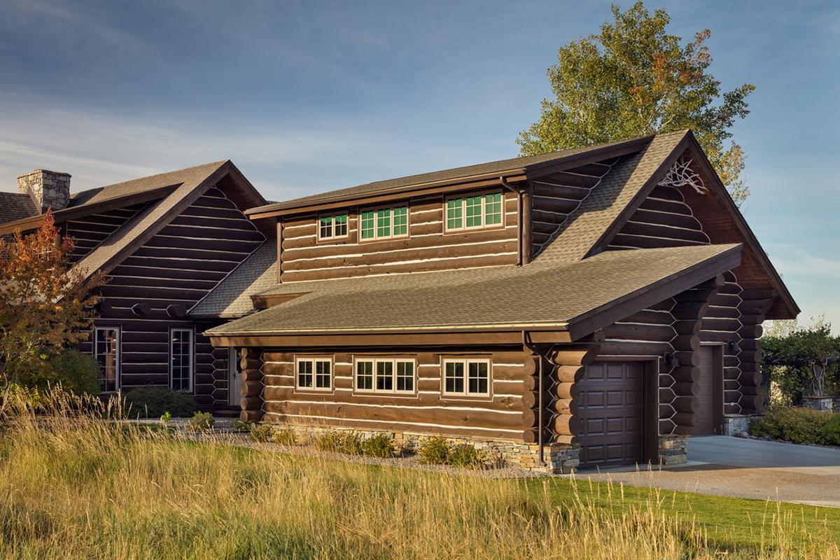 Log Home Between Two Creeks