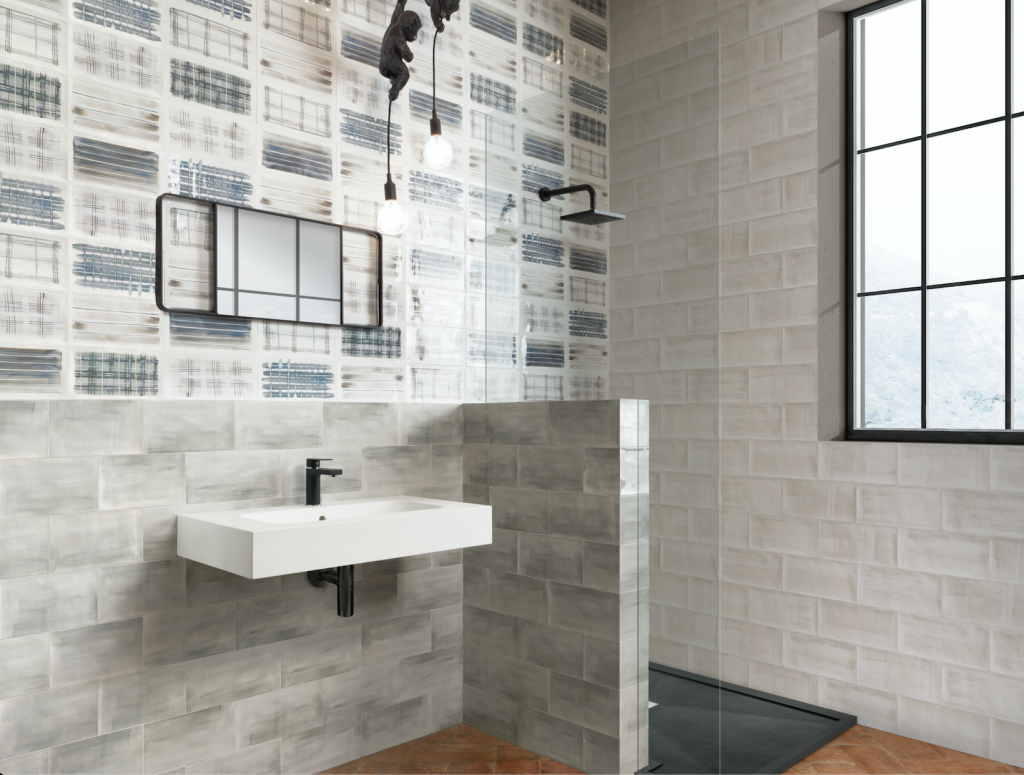 Tile collection imbues movement with soft, flowing design