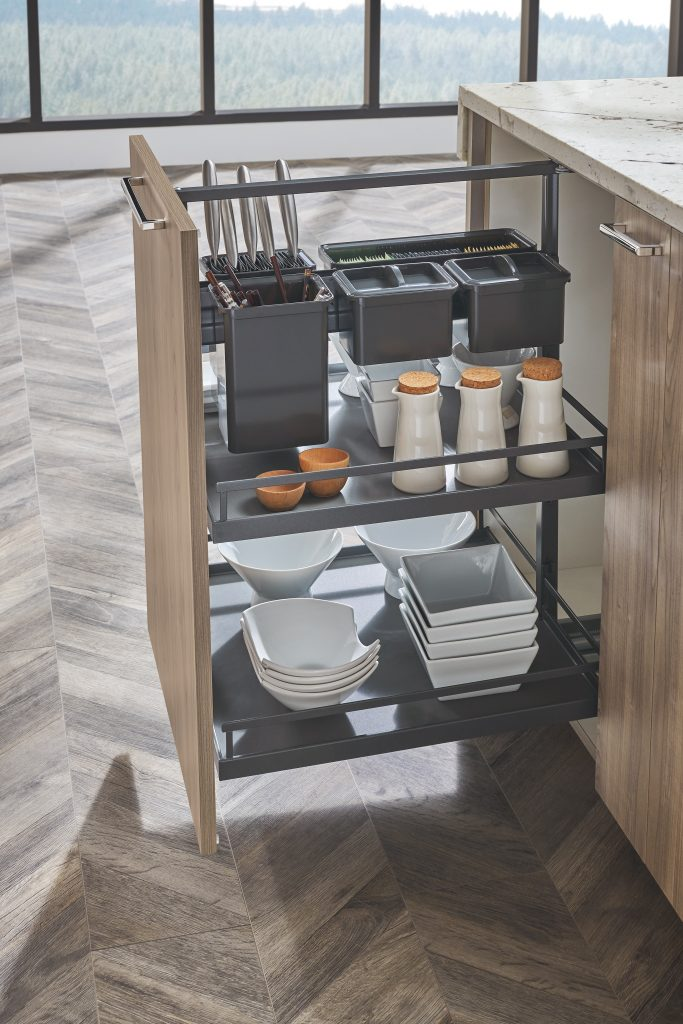 Anthracite Cabinet Pullout Finish