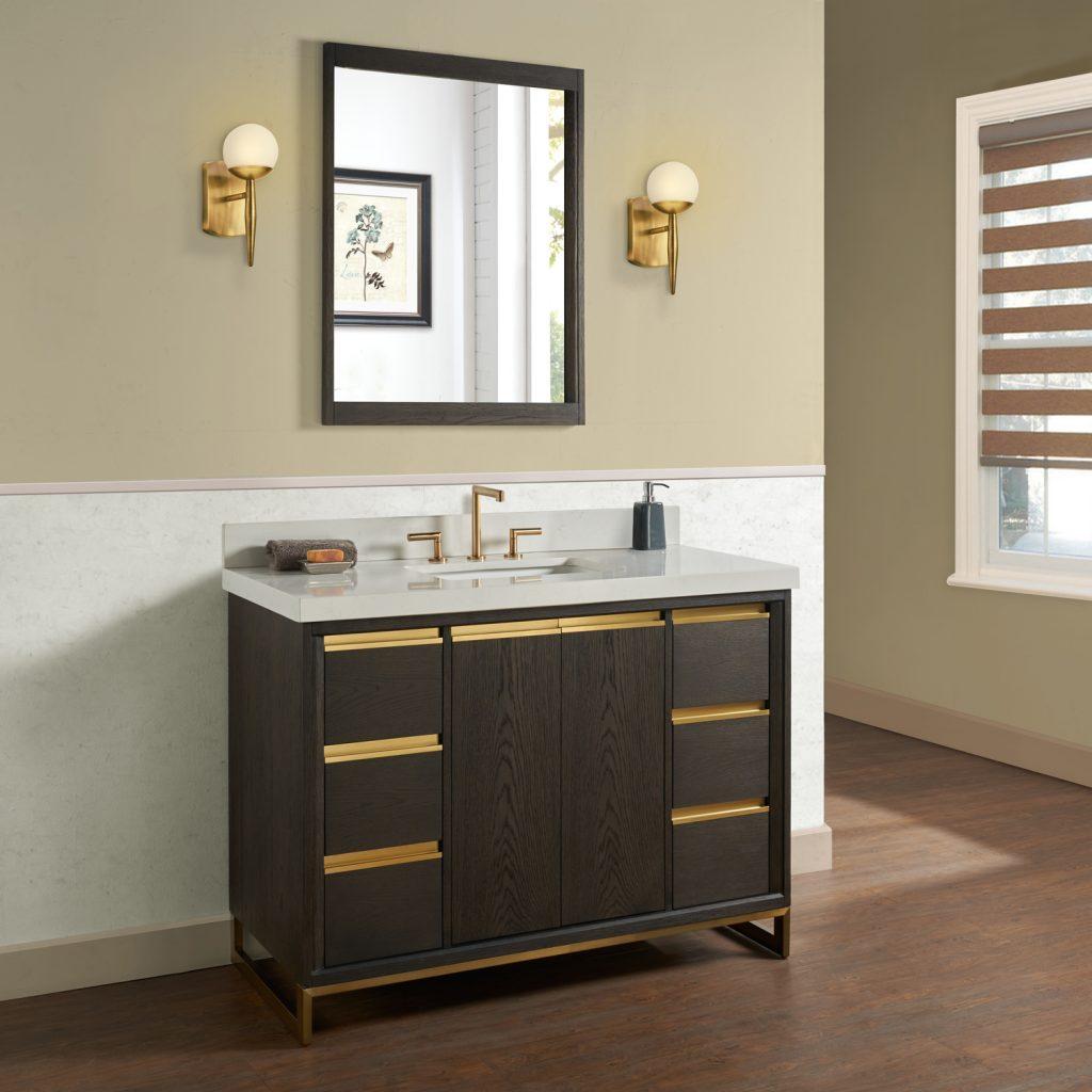Geometric Oak Bath Furniture