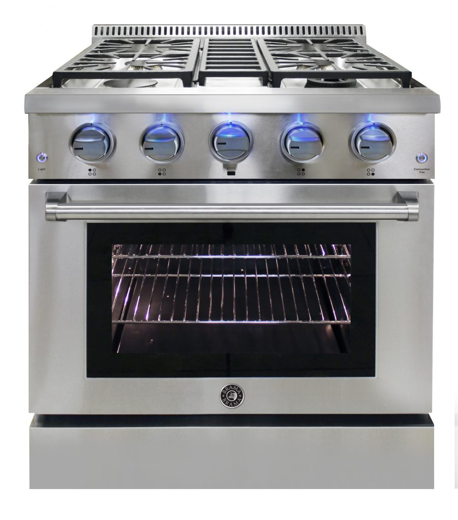 Gas range offers versatile solution for small kitchens