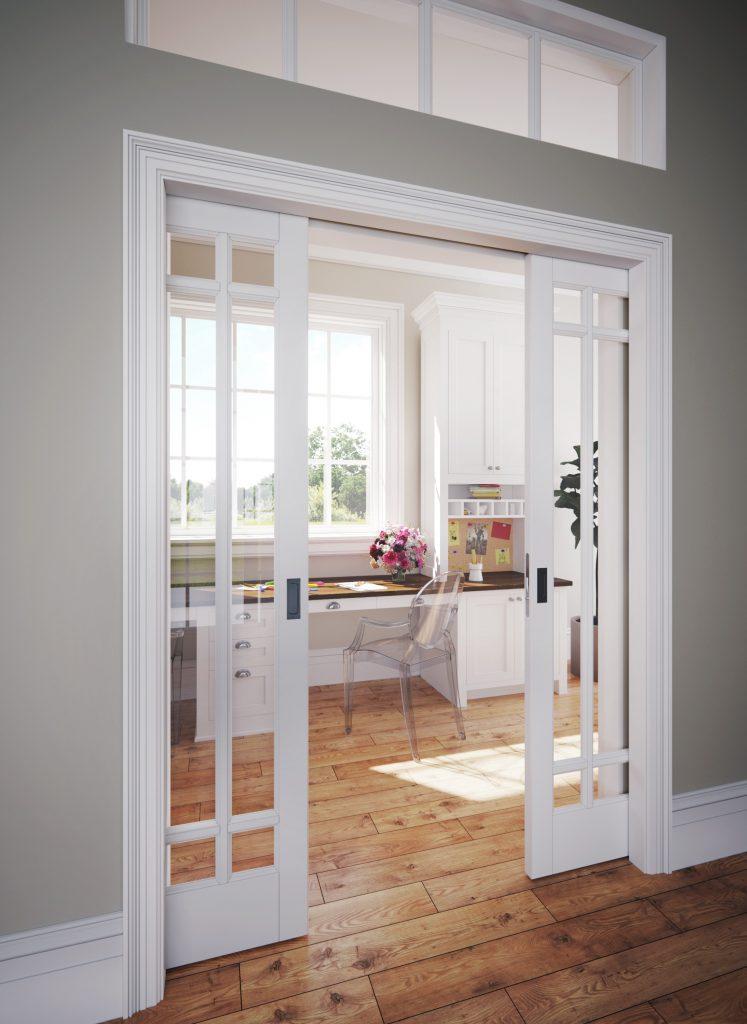All-steel split studs boost rigidity of pocket door frame
