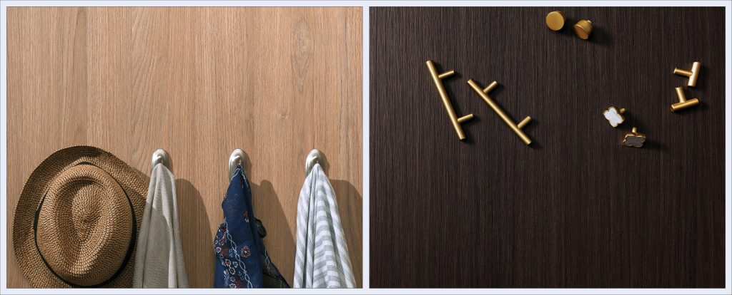 Surface collection showcases deep, textured wood looks