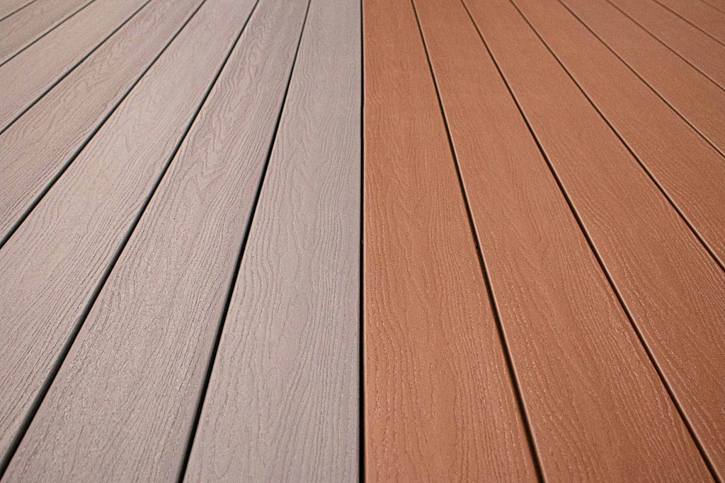 Capped wood composite deck designed for any budget