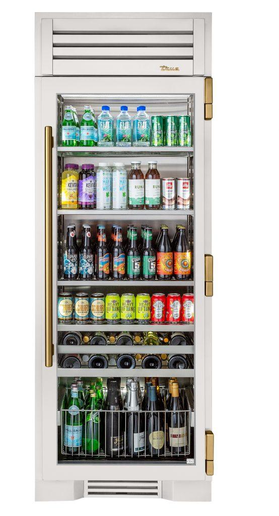 Beverage center imbues high-end appliance design