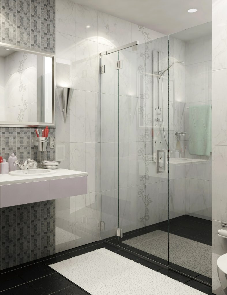 Elliptical Shower Door