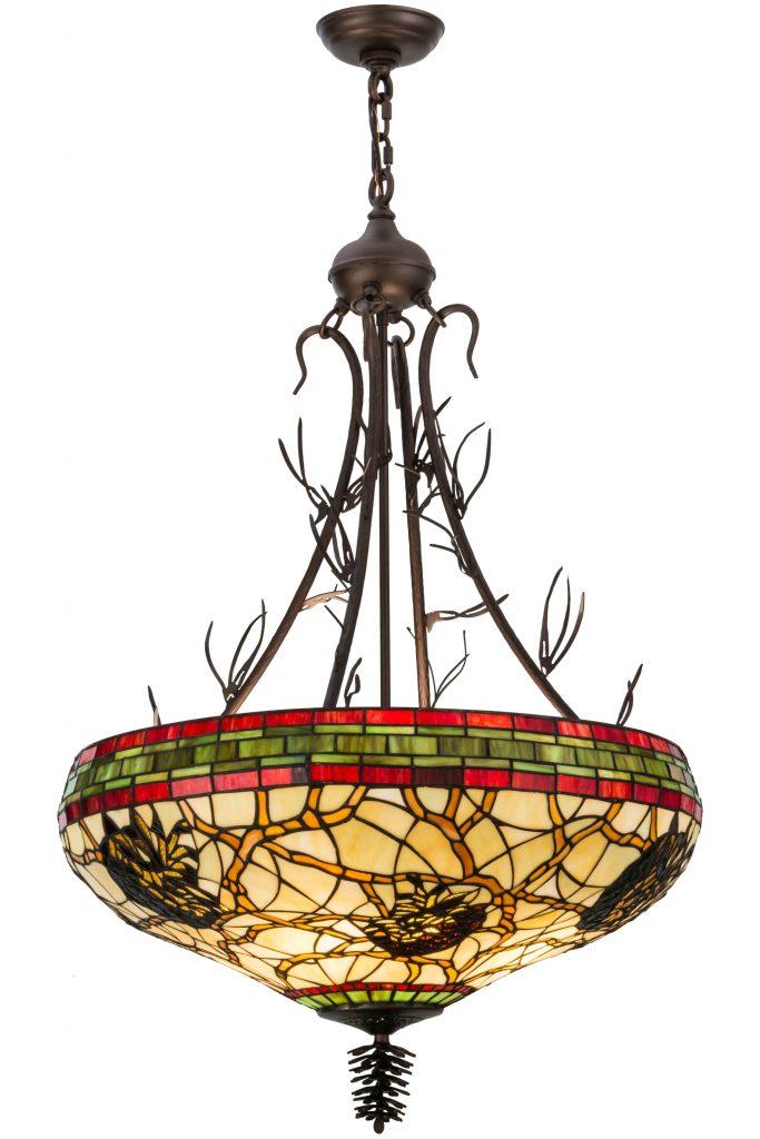 Rustic Art Glass Pendant