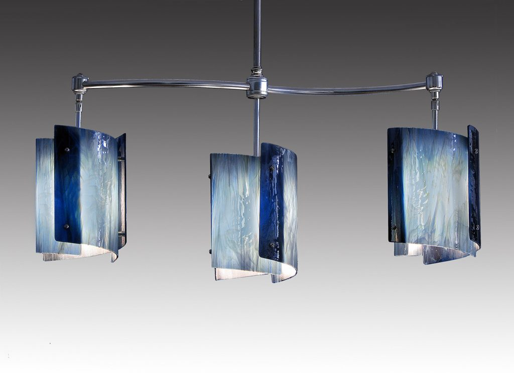 Blue Art Lighting Fixture
