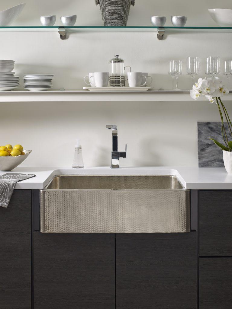 Hand-Hammered Kitchen Sinks