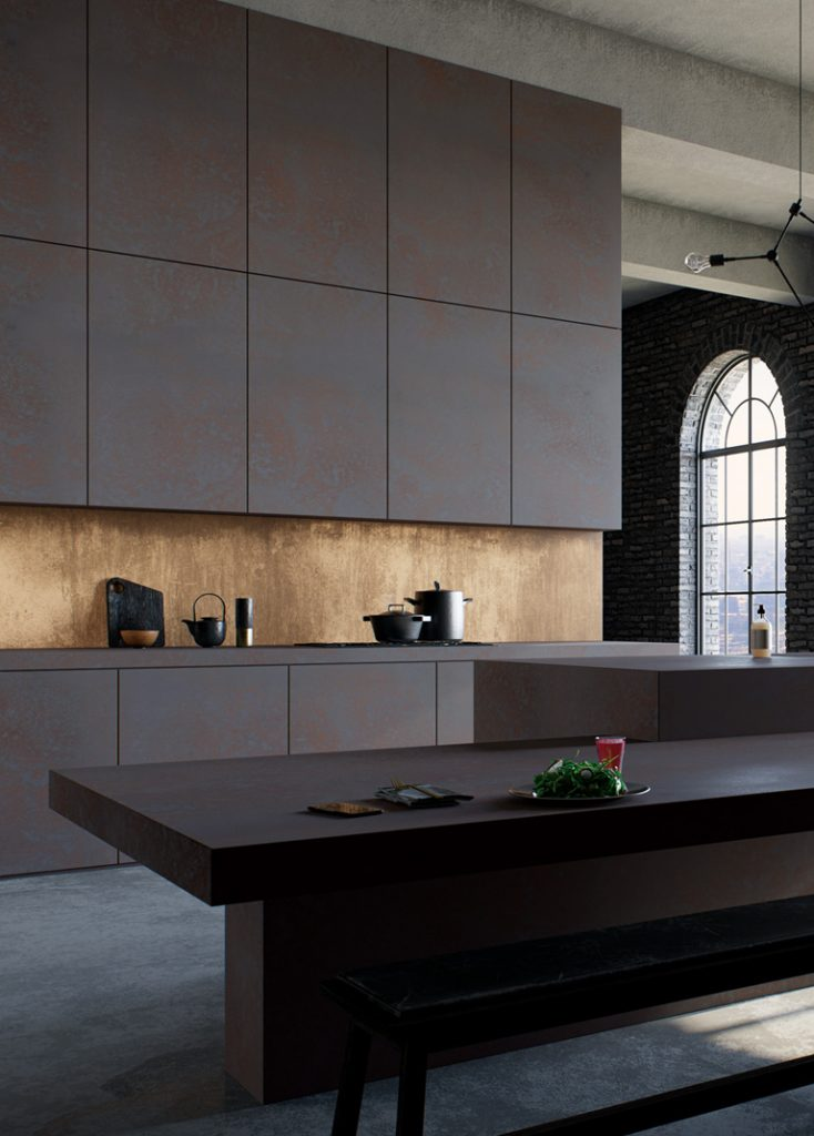 Surface finish highlights stone, enhances depth of color