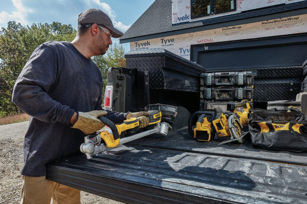 Outdoor power tools incorporate innovative design