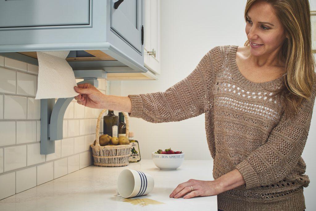 Built-In Cabinet Paper Towel Holder