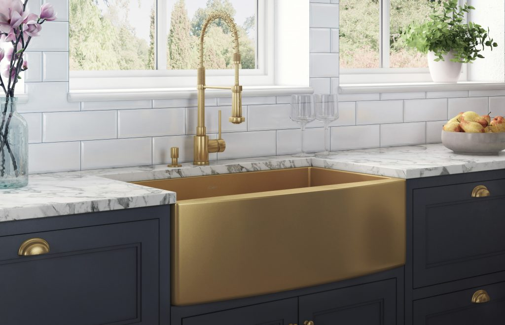 Metallic Finish Farmhouse Sinks