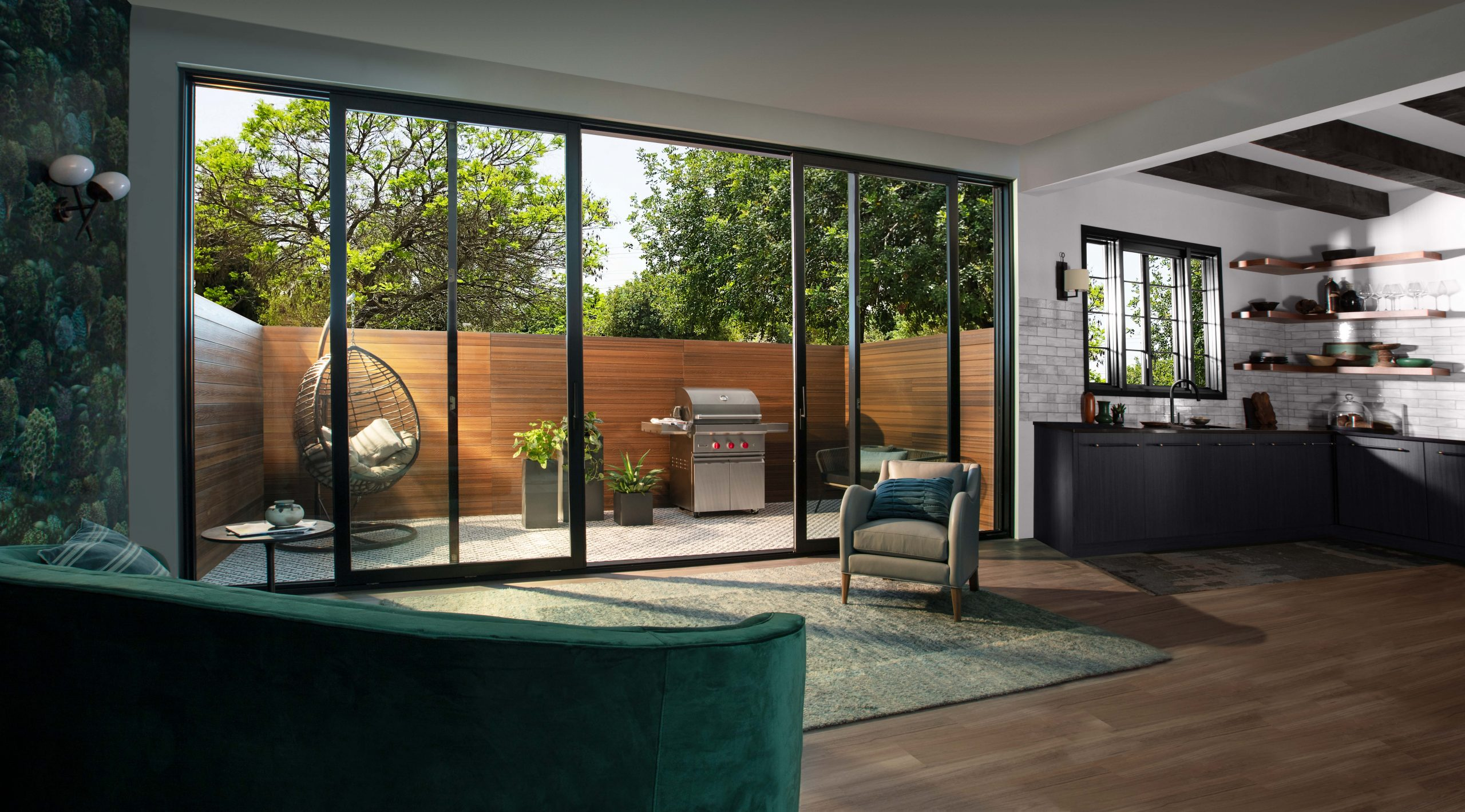 Sliding Patio Door Blurs Boundary Between Indoor Outdoor Spaces Remodeling Industry News Qualified Remodeler