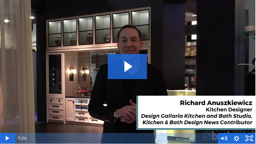 Design Trends by Richard Anuszkiewicz at KBIS's Best Booth, Monogram