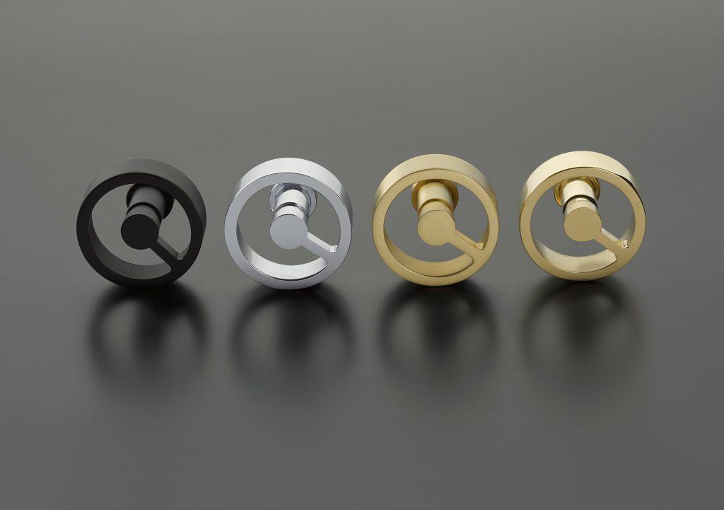 Doorknob with one spoke fulfills minimalist design trend