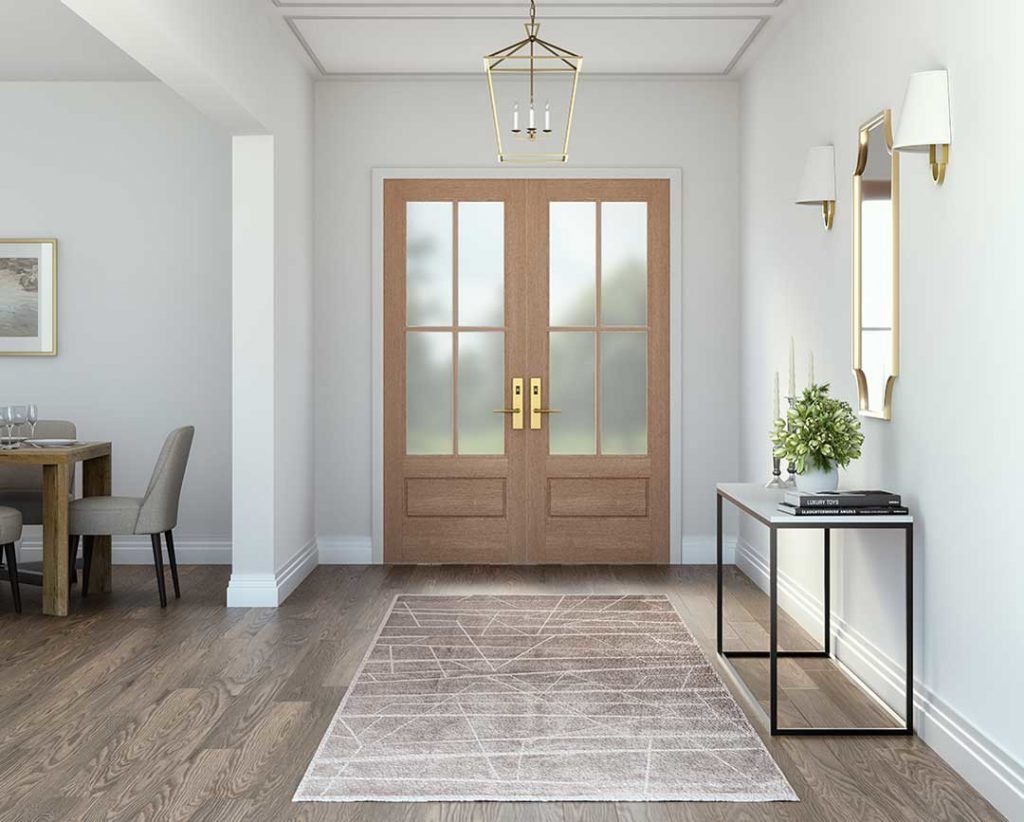 Exterior doors let in more natural light than traditional inserts