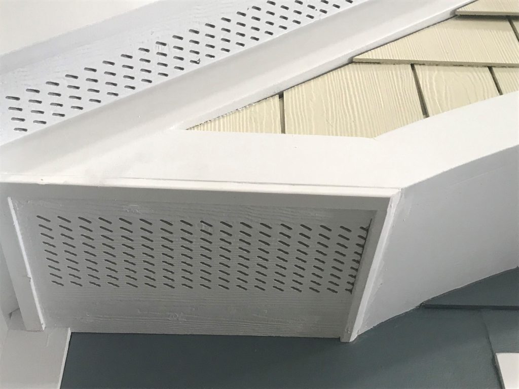 Soffit panels maximize ventilation, keep critters from entering