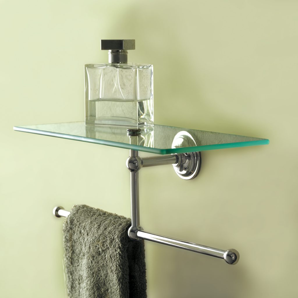 Shelving with Towel Bar
