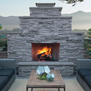 Glass-Fiber Reinforced Concrete and Hand-Sanded Fireplaces