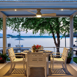 Louvered-Roof Pergola Featuring Pivoting