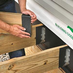 Self-Adhering, Waterproofing Ledger Board Membranes