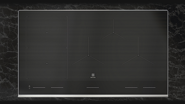 Cooktop uses induction to maintain temperatures