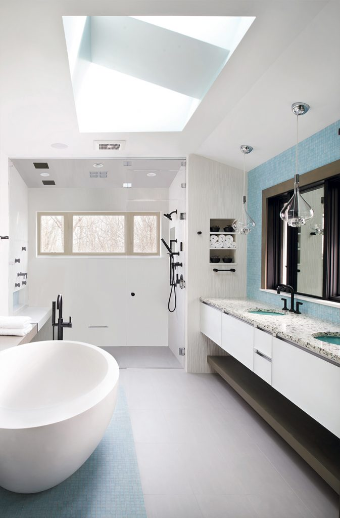 Technology Elevates Master Bath