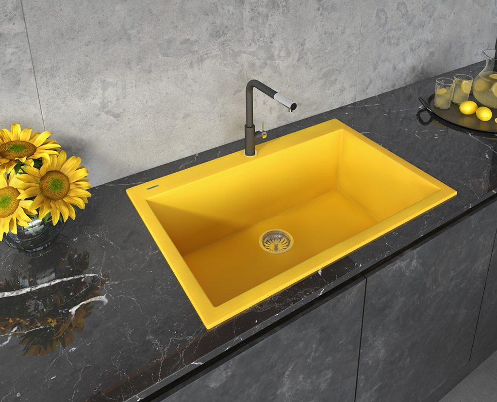 Yellow Granite Sink