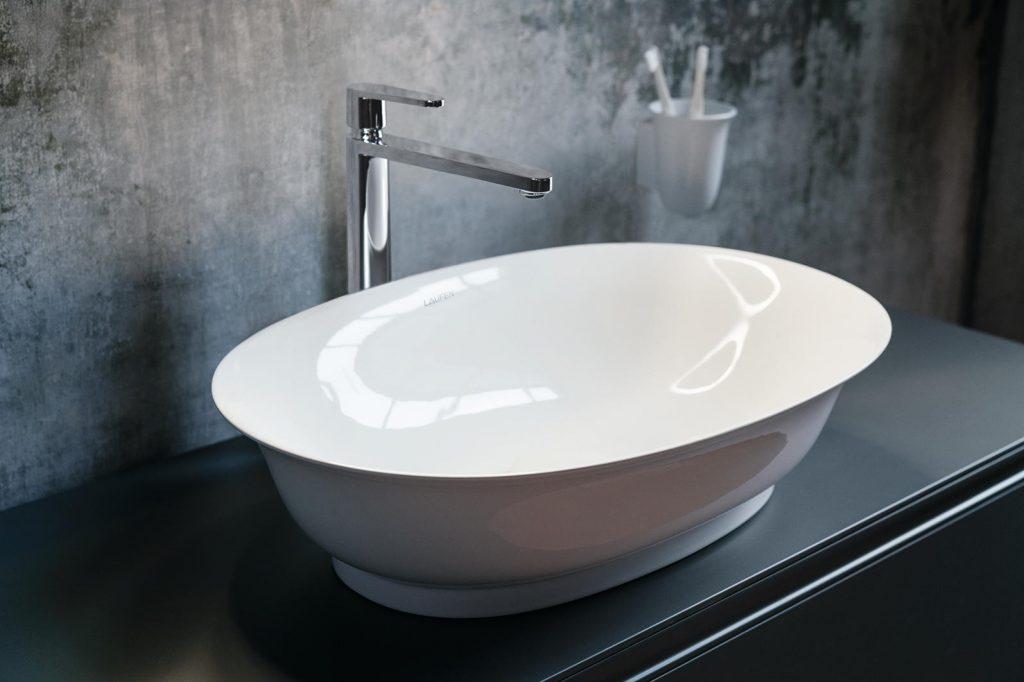 Curved Bath Sink