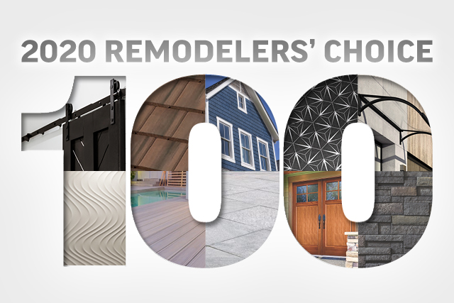 2020 Remodelers' Choice: 100 Most Requested Products