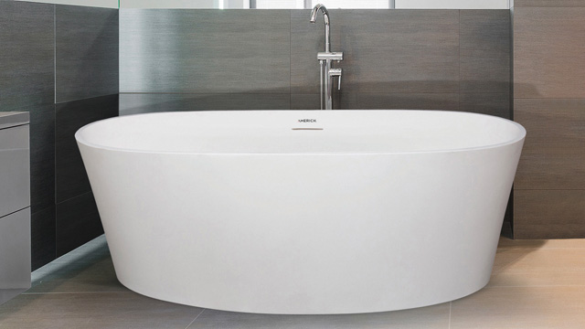 Freestanding tub offers smaller option within challenging spaces