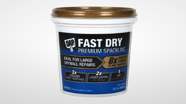 Spackling fixes large drywall restorations eight times quicker