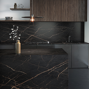 Surfaces inspired by natural stone, darker shades